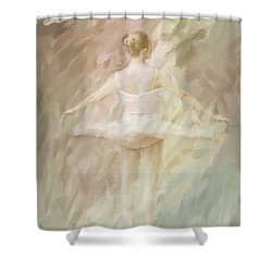Twirling Shower Curtain