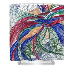Twirls And Cloth Shower Curtain