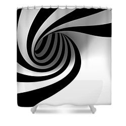 Twirly Shapes Shower Curtain by Gianfranco Weiss