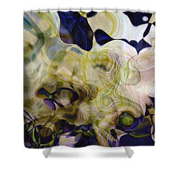 Twist-leaf Shower Curtain by Susan Schroeder