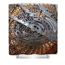 Twist Of Steel Shower Curtain