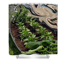 Twisted Garden Shower Curtain
