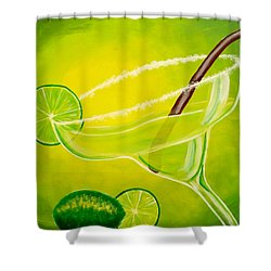 Twisted Margarita Shower Curtain