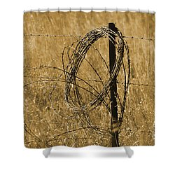 Twisted - Sepia Shower Curtain