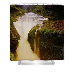 Twister Falls Shower Curtain by Jeff Swan