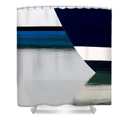 Two Boats Edgartown Shower Curtain by CJ Middendorf