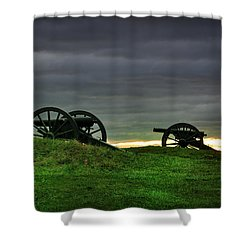 Two Cannons At Gettysburg Shower Curtain by Bill Cannon