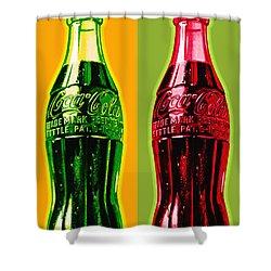 Two Coke Bottles Shower Curtain