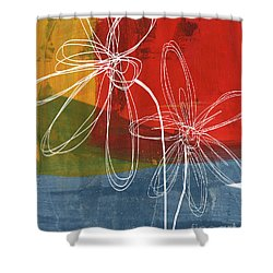 Two Flowers Shower Curtain