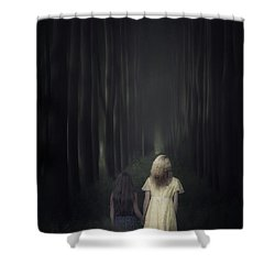 Two Girls In A Forest Shower Curtain by Joana Kruse