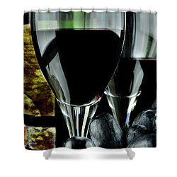 Two Glasses With Red Wine Shower Curtain