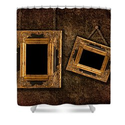 Two Hanging Frames Shower Curtain by Amanda Elwell