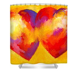 Two Hearts Beat As One Shower Curtain by Stephen Anderson