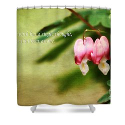Two Hearts Shower Curtain by Darren Fisher