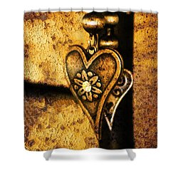 Two Hearts Together Shower Curtain by Randi Grace Nilsberg