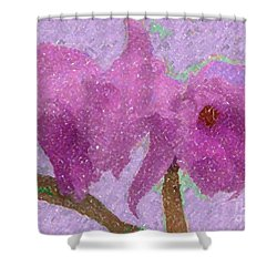 Two Hothouse Beauties Shower Curtain by Barbie Corbett-Newmin