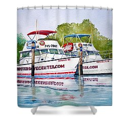 Two If By Sea Shower Curtain by Jeff Lucas