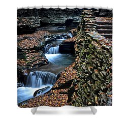 Two Kinds Of Steps Shower Curtain by Frozen in Time Fine Art Photography
