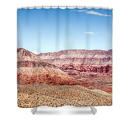 Two Layered Mountains Shower Curtain