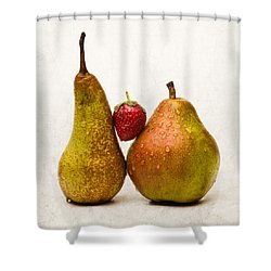 Two Lives One Heart - Square Shower Curtain by Alexander Senin