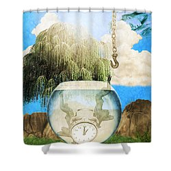 Two Lost Souls Shower Curtain