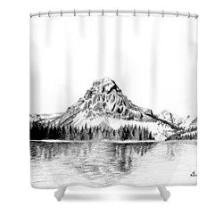 Two Medicine Mountain Shower Curtain by Kayleigh Semeniuk