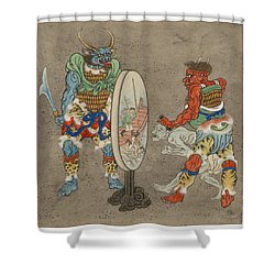 Two Mythological Buddhist Or Hindu Figures Circa 1878 Shower Curtain by Aged Pixel