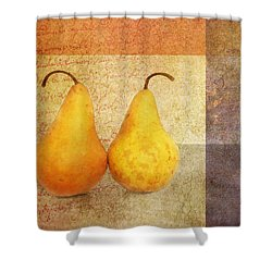 Two Pears Shower Curtain