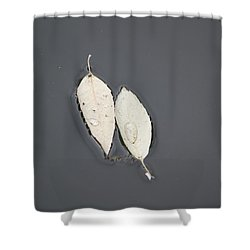 Two Peas In A Pod Shower Curtain by Amy Gallagher