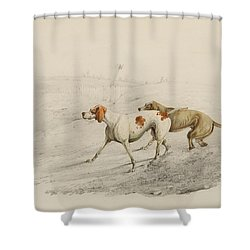 Two Pointers Shower Curtain by Henry Thomas Alken