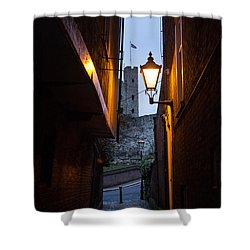 Two Post Ally Shower Curtain by Dawn OConnor