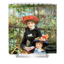 Two Sisters On The Terrace Shower Curtain
