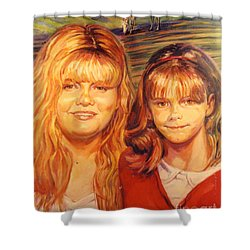 Two Sisters Shower Curtain by Stan Esson