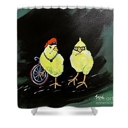 Two Smokin Hot Chicks Shower Curtain