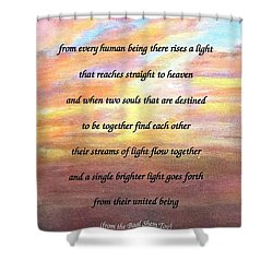Two Souls Destined To Be Together Shower Curtain