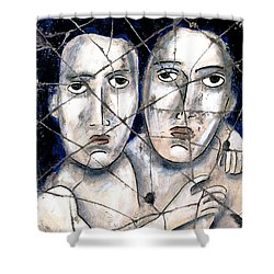 Two Souls - Study No. 1 Shower Curtain