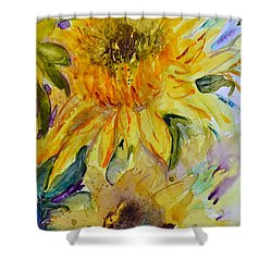 Two Sunflowers Shower Curtain by Beverley Harper Tinsley