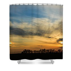 Shower Curtain featuring the photograph Two Suns Over Kentucky by Peta Thames