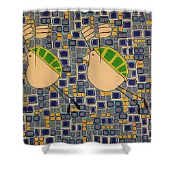 Two Turtledoves Shower Curtain