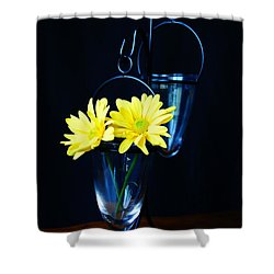 Two Yellow Daisies Shower Curtain