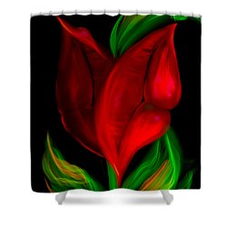 Twolips Shower Curtain by Billie Jo Ellis
