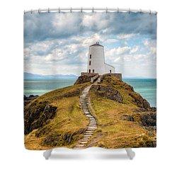Twr Mawr Path Shower Curtain by Adrian Evans