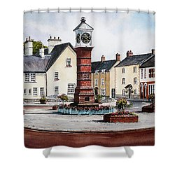 Twyn Square Usk Wales Shower Curtain by Andrew Read