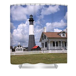 Shower Curtain featuring the photograph Tybee Island Light by Gordon Elwell