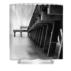 Tybee Island Pier Shower Curtain
