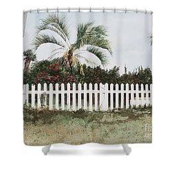 Tybee Island Roses Shower Curtain