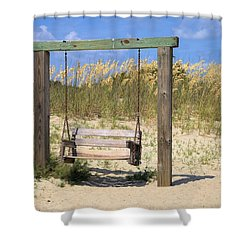 Shower Curtain featuring the photograph Tybee Island Swing by Gordon Elwell