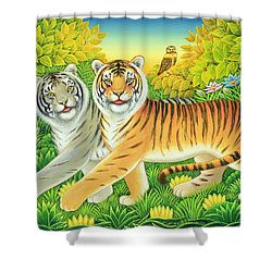 Tygertyger, 2002 Shower Curtain by Frances Broomfield