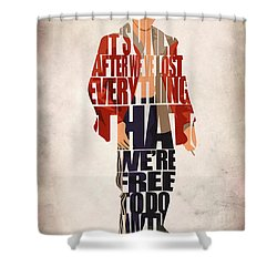 Tyler Durden Shower Curtain