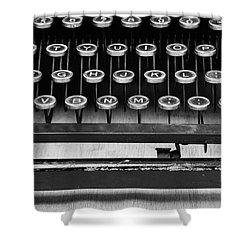 Typewriter Triptych Part 2 Shower Curtain by Edward Fielding